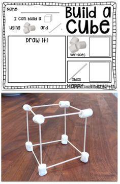 2D and 3D shape activities for kindergarten. Perfect for kindergarten math centers!