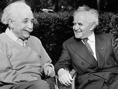 """TBT to the time when .@HebrewU founder Albert Einstein hung out w/ David Ben-Gurion, 1st Prime Minister of Israel. @AmFriendsHU """""""