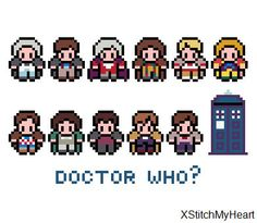 Doctor Who Cross Stitch Pattern (PDF) INSTANT DOWNLOAD