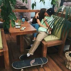 – Try to help with everyday issues! Skater Couple, Skater Boys, Photo Couple, Love Couple, Cute Relationship Goals, Cute Relationships, Tumblr Skate, Cute Couple Pictures, Couple Photos