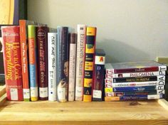 Library books at home shelfie