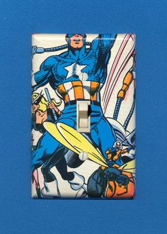 New Captain America switch plate...