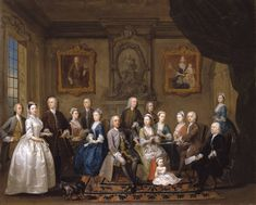 'The Du Cane and Boehm Family Group', 1734-5, Gawen Hamilton. Tate. This large and imposing group portrait, which celebrates the dynastic conjunction of the financially powerful Huguenot families of Du Cane and Boehm, is arguably Hamilton's finest. It was very likely commissioned by Richard Du Cane (1688-1641) as a visual demonstration of his family's success and future fortune, to which Hamilton has responded impressively.