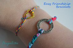 Easy camping #crafts to do with the kids! http://crunchyfrugalista.com/easy-kids-camping-crafts-friendship-bracelets/