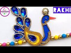 DIY Rakhi making at home Handmade Rakhi Designs, Handmade Design, Fabric Glue, Lace Fabric, Diy Home Crafts, Crafts For Kids, Rakhi Making, Ball Chain, Home Art