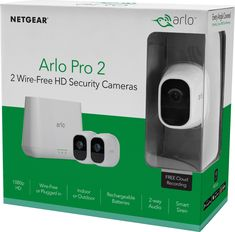 Shop Arlo Pro 2 Indoor/Outdoor Wireless Security Camera System White at Best Buy. Find low everyday prices and buy online for delivery or in-store pick-up. Home Security Tips, Wireless Home Security Systems, Wireless Security Cameras, Wireless Camera, Security Camera System, Security Surveillance, Security Alarm, Surveillance System, Security Cameras For Home