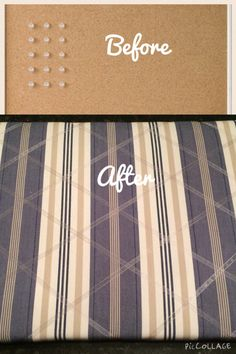 DIY board for photos and notes. Use a cork board and cover it with your favorite fabric and ribbons. Fun and personal.