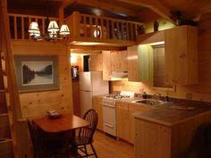 Adirondack White Pine Cabin interior