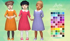 Wednesday Dress - Toddler Version• 66 Colors  • Standalone & Custom Thumbnails  • Toddler only, Adult Version can be found *here*  • Mesh by me  Download Links under the cut!  [[MORE]]DOWNLOAD:...