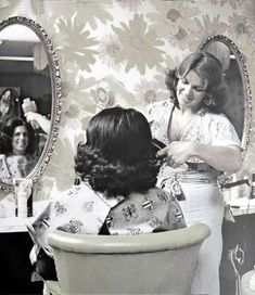 salon de coiffure annee 60 Salon de coiffure, Coiffure