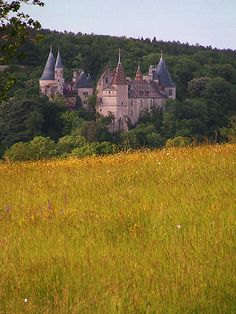 Chateau de la Rochepot - Burgundy - At the French Countryside Oh The Places You'll Go, Places To Travel, Places To Visit, Beautiful Castles, Beautiful Places, Monuments, Photo Chateau, Burgundy France, Belle France
