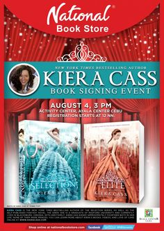 National Book Store brings Kiera Cass for a Book Signing Event in Cebu New Times, New York Times, Kiera Cass Books, National Book Store, Book Signing, Activity Centers, Cebu, Bestselling Author, Novels