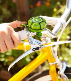 bicycle bell painted like a turtle. so cute! (i looked for orig source of pic but couldn't find it.)