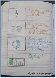 This sort is for showing how fractions can be applied to   time, money, and measurement. It's perfect for using in math journals. After gluing the cards down, students describe the fractional relationship between each of the cards. Examples have been included FREE