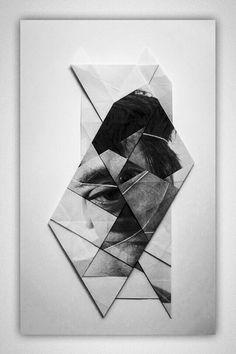 Geometric Facial Landscape by Aldo Tolino
