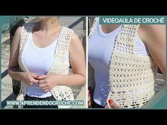 Colete Crochê Boho Chic - Aprendendo Crochê - YouTube Crochet Tote, Crochet Jacket, Crochet Cardigan, Boho Chic, Vest Jacket, Crochet Patterns, Diy Crafts, Knitting, Jackets