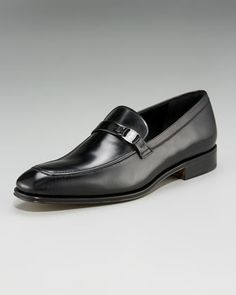 Black Leather Loafers by Salvatore Ferragamo. Buy for $695 from Neiman Marcus