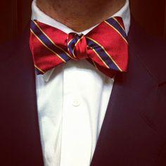 "the adventures of tartanscot™: ""Sunday Runway - Repp Stripe Bow Ties . . . """