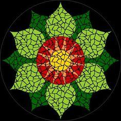 Completed Heart Chakra mosaic mandala kit created in ceramic tiles Design by Brett Campbell Mosaics Stone Mosaic, Mosaic Glass, Glass Art, Stained Glass, Mosaic Crafts, Mosaic Projects, Free Mosaic Patterns, Beading Patterns, Loom Patterns