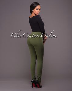 Chic Couture Online - Segal Olive Green Zipper Accents Leggings.(http://www.chiccoutureonline.com/segal-olive-green-zipper-accents-leggings/)