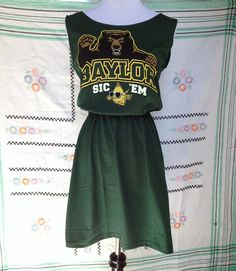 Baylor University BU Bears Game Day T Shirt Tee Dress