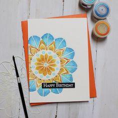 Magenta: Savvy Creations with Cassandra / Créations avisées avec Cassandra Birthday Cards, Happy Birthday, White Heat, Making Cards, Big Shot, My Stamp, Watercolor Paper, Magenta, Mandala