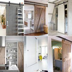 Wist je dat schuifdeuren niet alleen mooi zijn, maar ook nog eens handig? Zeker als je niet zo groot woont, kun je met schuifdeuren flink wat ruimte besparen. Je hoeft bij het inrichten van een ruimte immers geen ruimte vrij te laten voor de draaicirkel van de deur. Daarnaast is een schuifdeur vaak een mooie blikvanger. Bekijk deze voorbeelden van Welke.nl maar eens. Barn Door Sliders, Open Door Policy, Recording Studio Home, Garden Living, Small Rooms, Home Projects, Home And Living, Beautiful Homes, Building A House
