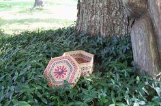 Basket Handwoven Grass Native Vessel Mid by AntiquesandVaria, $22.10