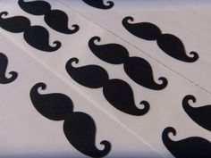 50 Mustache Stickers- Party decoration/envelope seals. $8.00, via Etsy. For Plastic Cups
