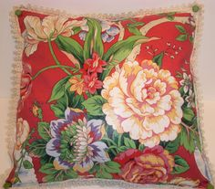 HANDMADE DECORATIVE PILLOW with Vibrant by ShopOfCraftsByMyrna, $21.00 #rt #promooasis
