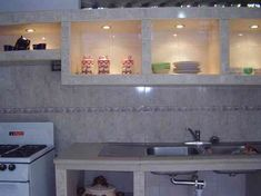 Cocina empotrada en concreto y ceramica - Imagui                                                                                                                                                      More