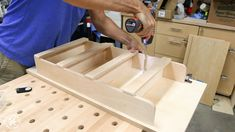 How to Build DIY Wall Cabinets with 5 storage options. Customize these shop cabinets to organize your garage or workshop. Video tutorial and plans! Diy Garage Storage Cabinets, Garage Tool Storage, Camper Storage, Garage Workbench, Wall Cabinets, Paint Storage, Shop Storage, Storage Ideas, Workshop Cabinets