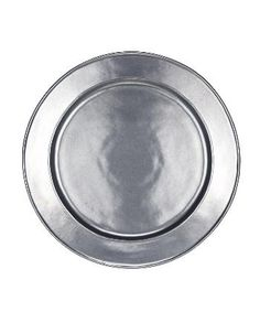 Pewter Stoneware Charger Plate - Round