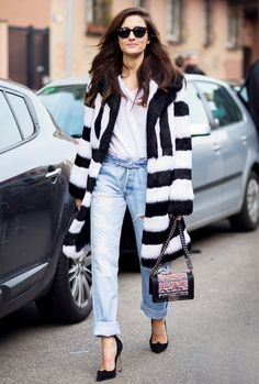 Get Bold in Black and White via @WhoWhatWear