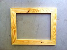 custom pine wood frames by jonesframing on etsy starting at 22 click here to - Natural Wood Picture Frames