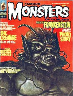"""Famous Monsters of Filmland - issue #87 - 1971 - """"She Creature"""""""