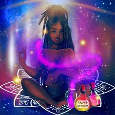 Sex Magick: How To Open Your Mind For Powerful Manifestation - Luna Lifted Art Sex Magick: How To Open Your Mind For Powerful Manifestation Art Black Love, Black Girl Art, My Black Is Beautiful, Black Girl Magic, Black Girls, African American Art, African Art, Black Power Desenho, Art Afro