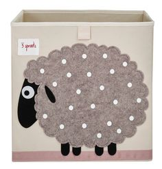 3 Sprouts Sheep Storage Box.  www.3sprouts.com