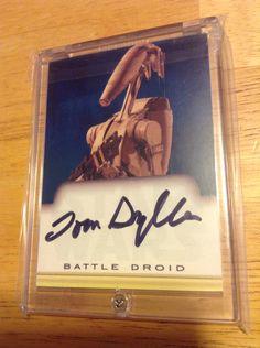 Tom Sylla Star Wars Autographed Card