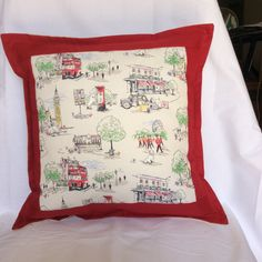 """Cath Kitson """"Billie Goes To Town"""" Cushion Cover by PatchworkProjects on Etsy"""