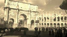 Konstantinbogen und Colosseo