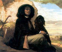 Gustave Courbet (23év): Önarckép fekete kutyával 1842-1844