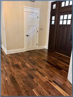 (paid link) To learn the hardness rating of the wood you're considering, check out The National Wood Flooring Association's. Wood as soon as a tall rating greater than ... #woodfloorkitchen Walnut Hardwood Flooring, Hardwood Floor Colors, Wide Plank Flooring, Vinyl Flooring, Kitchen Flooring, Dark Walnut Floors, Bamboo Hardwood Flooring, Laminate Flooring Colors, Flooring Sale