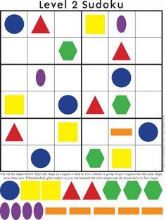 The Kid Giddy Craft, #DIY,  Giddy Up Friday: Sudoku Printables #craftsforkids {math practice ideas}