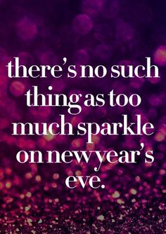 Sparkle on New Years Eve