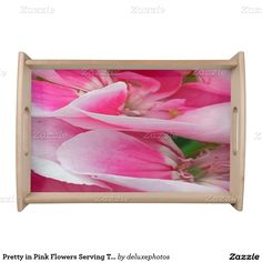 Pretty in Pink Flowers Serving Tray