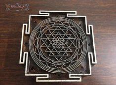 Wood Block Printing Hand Carved Indian Wood Textile Block Stamp Mandala Indian Sri Yantra Motif