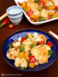 RETETE DE MANCARE DE POST | Diva in bucatarie Vegetarian Food, Broccoli, Potato Salad, Cauliflower, Curry, Potatoes, Vegetables, Ethnic Recipes, Curries