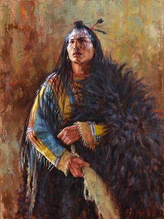 Eminence of the Arikara Warrior | Painting | Native American painting