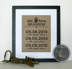 The best days ever art First anniversary gift Engagement party decoration Wedding sign Unique wedding gift Anniversary present for wife